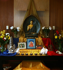 Dublin Buddhist Centre shrine for Buddha Day 2010