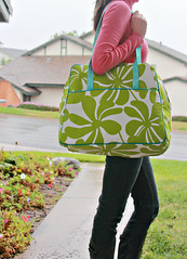 My Weekender! - 276:365 (Darci - Stitches&Scissors) Tags: me bag piping timelesstreasures weekender 365daysofphotos premierprints thesewingsummit travelhandmade fruitpunchinaqua amybutlersweekender