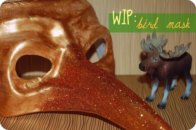 WIP: bird mask.