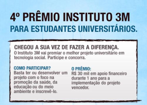 Prêmio Instituto 3M para Estudantes Universitários