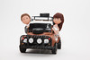 Landrover Bride and Groom (Rouvelee's Creations) Tags: wedding polymerclay caketopper landrover brideandgroom weddingcaketopper rouvelee