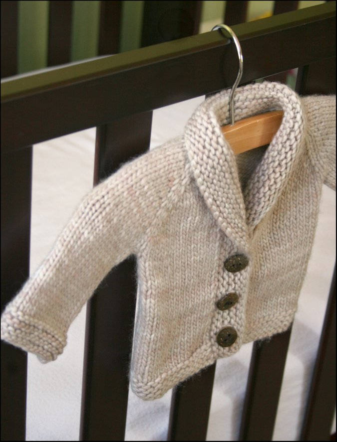 Easy Baby Boy Sweater Knitting Pattern - Long Sweater Jacket