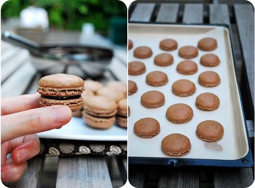 Dark Chocolate Macarons II