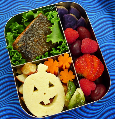 Salmon and Polenta Jack Bento by sherimiya ♥