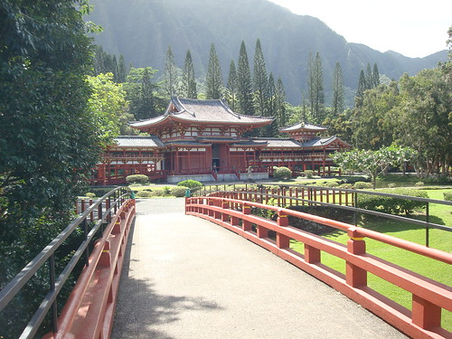 The Byodo-in Temple in Windward Oahu, Hawaii