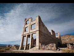 Cook Bank (Muzzlehatch) Tags: trip building abandoned town ruins nevada ghost cook bank rhyolite derelict deva blm bureauoflandmanagement