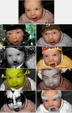 Retoques bebé enfadado (padre diseñador gráfico)