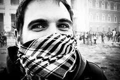 (nic.minghetti) Tags: portrait rome blackwhite riot protest protesta riots ritratto biancoenero corteo acab 15oct2011