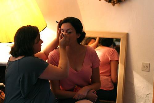 a dos francos - makeup