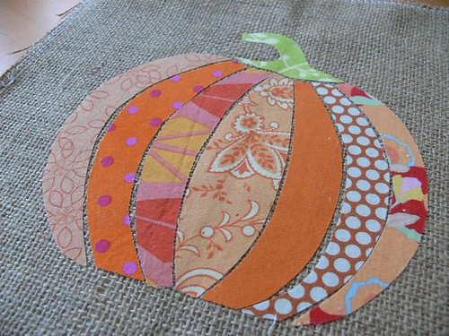 Pumpkin Burlap Art by Jenny Bartoy ~ Handmade Designs