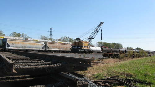 Norfolk Southern  M.O.W crane.  Hammond Indiana USA. Saturday, October 15th, 2011. by Eddie from Chicago