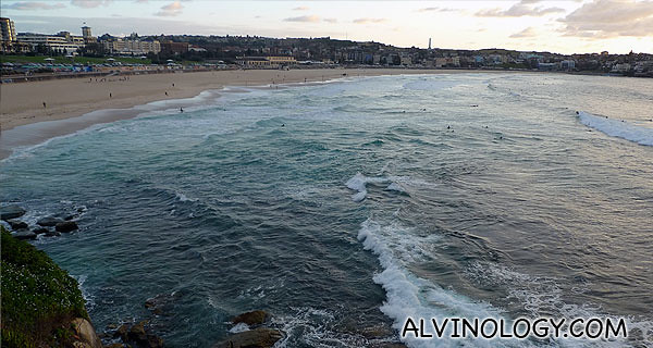 Even when the sun was barely up, people were already flocking to Bondi Beach