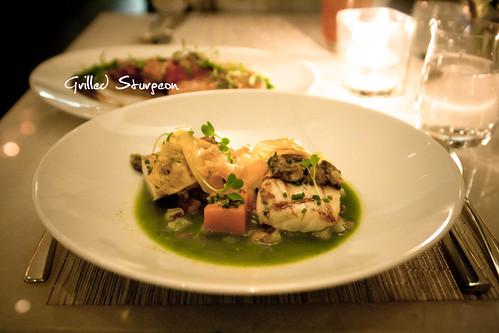 Seared qualicum bay scallops