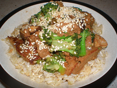 Seitan and Broccoli-Shiitake Stir-Fry