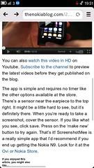 Skärmdump med Nokia N9