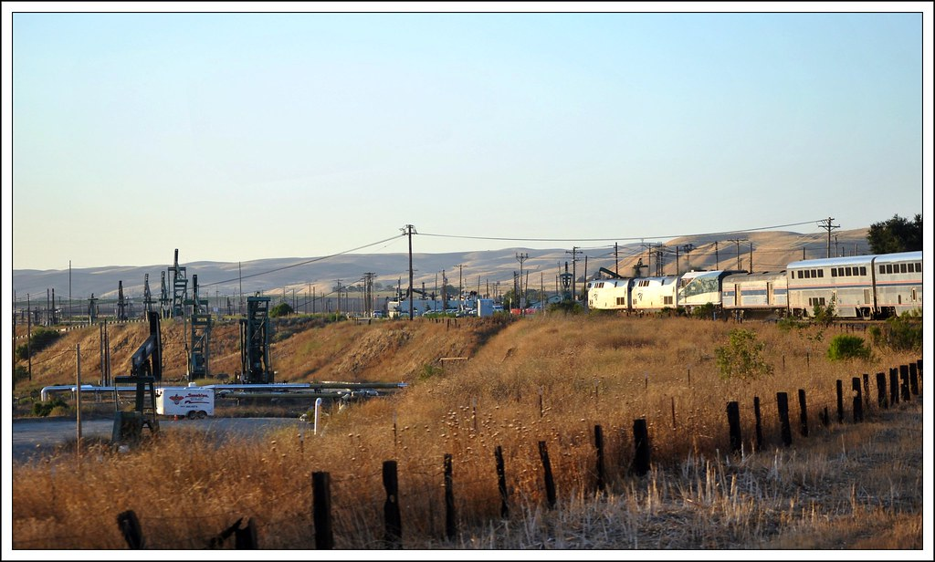 The San Ardo Oil Field  From The Coast Starlight. ( 4 Views )