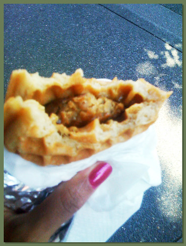 Flavourspot Vegan Sausage and Maple Cream Waffle