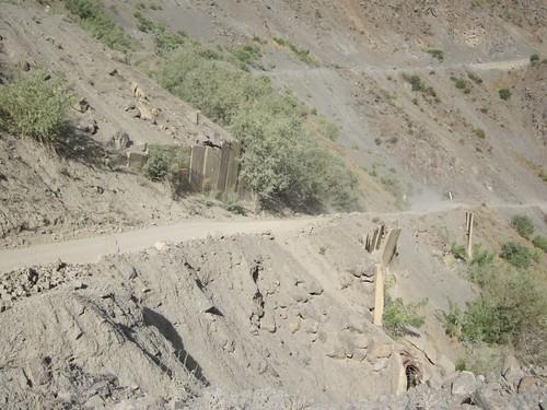 Road supports near Kalaikhum, TJ