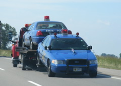 Towed Michigan State Police cars (Sean_Marshall) Tags: michigan police policecar statepolice