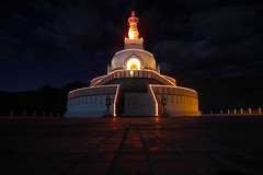 Shanti Stupa (Chandni Dossani) Tags: nightphotography travel art colors night canon interestingness interesting colours stupa steps monastery leh ladakh afterdark travelogue gompa jammukashmir shantistupa touristdestinations chandnidossani shantistupaatnight
