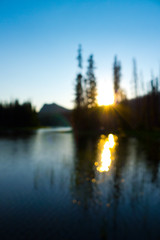 Sunset over Mowich Lake and Duffy Butte (RickyB-Photography) Tags: blue trees sunset mountains reflection green yellow oregon sunrise fishing butte sthelens duffylake mowichlake santiamlake columbiacounty scappoose duffybutte