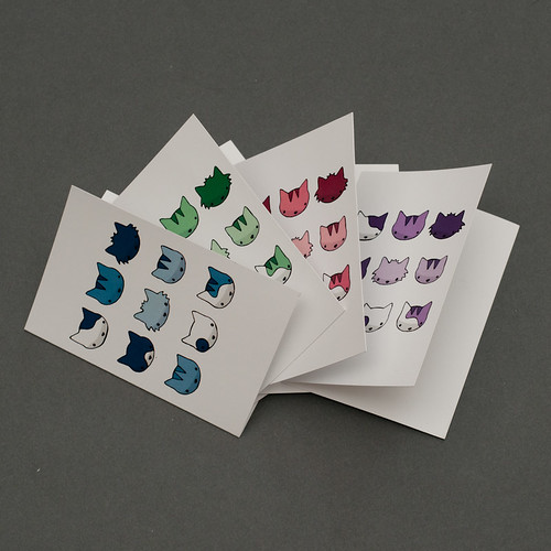 Pop-Art Cat Mini-cards