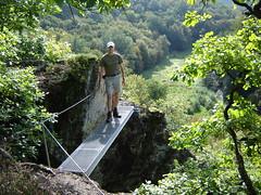 Einstieg zum Klettersteig auf dem Hölderstein