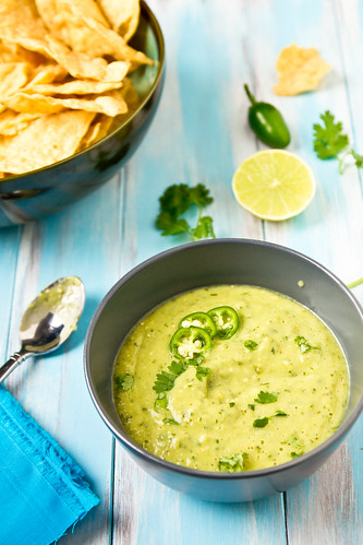 Houston-Style Creamy Green Salsa