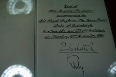 Royal Signatures (Mikepaws) Tags: city uk england building london capital financial insurance lloyds lloydsbuilding 2011 openhouseweekend