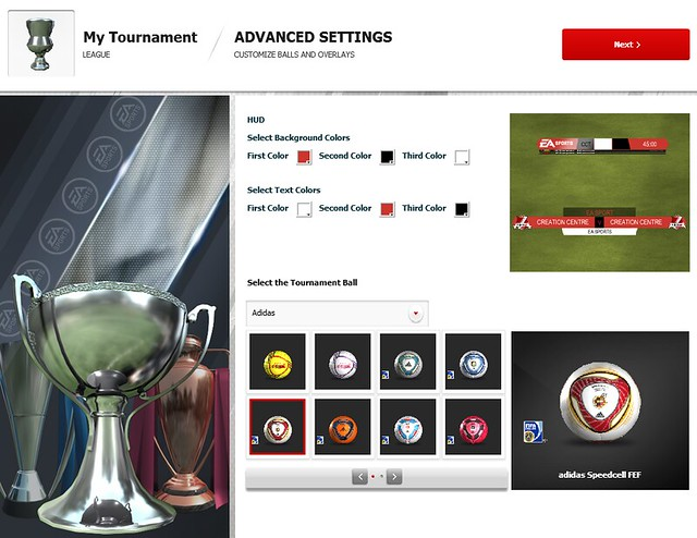 FIFA 12 Creation Centre: Advanced Tournament Settings
