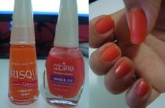 Laranja Siena /Risque + Coral Chic /Colorama (natcaroline) Tags: laranja risque esmalte colorama