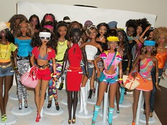 My Girls (Dia 777) Tags: friends hot kara colorful dolls diverse african models barbie grace pastry beauties uhura chandra barbiedoll alvinailey no8 rocawear dollsoftheworld mbili modelmuse trichelle dancetheaterofharlem americandancetheater princessofsouthafrica mbilifacemold soinstyle barbiebasics friendsofbarbie celebrationoftheworld dia777