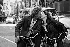 Lovers on a bike (Iam Marjon Bleeker) Tags: holland love amsterdam bike bicycle kiss dam lovers passion bikers stadsarchief loveonabike peopleonabikeinamsterdam dimsumimg0141 kissingonabike