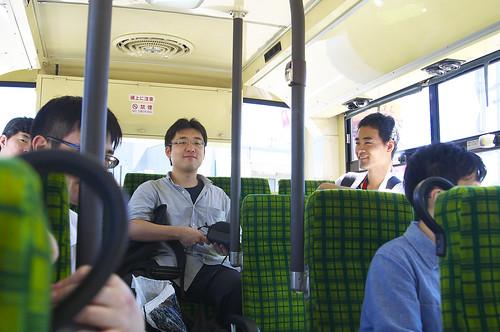 帰りのバスにて