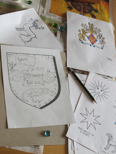 Working on their own coat-of-arms design