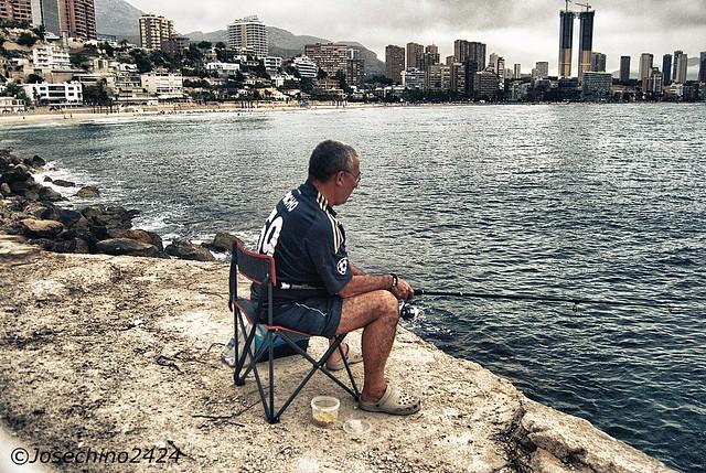 Pescador paciente.