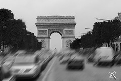 Arc de Triomphe (Raimondo2205) Tags: paris alberi de arc triomphe francia bianco nero parigi macchine