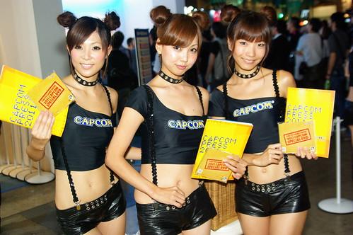 東京ゲームショウCAPCOMブースのコンパニオン画像164枚 #tgs2011
