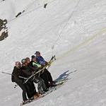 Men's Team on 'Roca Jack' T-Bar in Portillo, Chile, September 2011