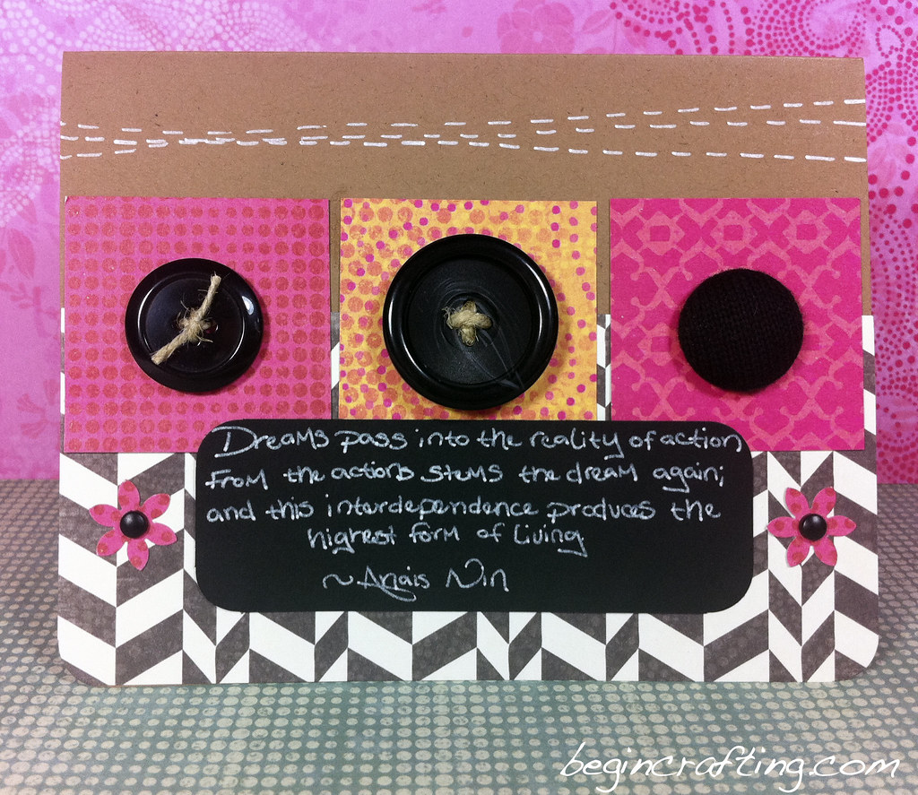 Three Buttons Card