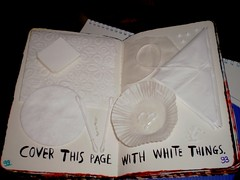 Cover This Page With White Things. (ChristyOnTheWall) Tags: this journal wreck