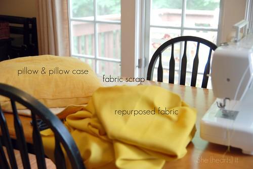 Mustard rose pillow