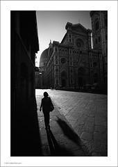 Chiaroscuro (Ian Bramham) Tags: street light shadow florence duomo chiaroscuro basilicadisantamariadelfiore