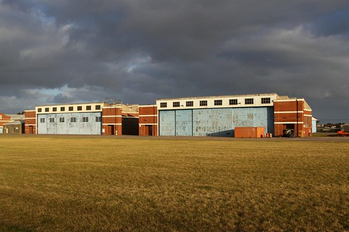 Another pair of disused aircraft hangars at RAAF Williams