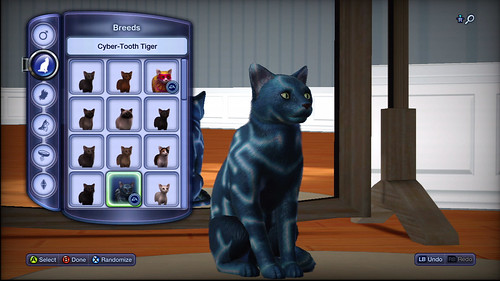 The Sims 3 Pets Cyber Tooth Tiger