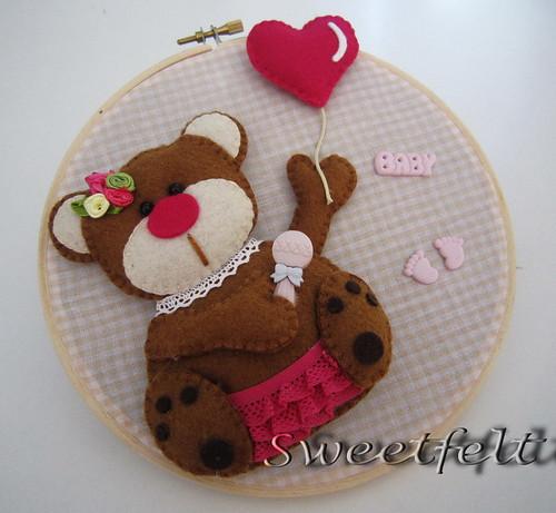 ♥♥♥ Ursinha... para meninas! by sweetfelt \ ideias em feltro