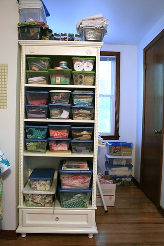 Where I keep all my fabric scraps