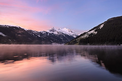 Silence and I / Zillertal, Austria (Michael Gross) Tags: mist mountain lake alps reflection nature sunrise landscape austria sterreich nikon outdoor alpen zillertal d90 wondersofnature