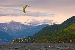 "Kitesurfing on Lago Maggiore • <a style=""font-size:0.8em;"" href=""http://www.flickr.com/photos/55747300@N00/6173611044/"" target=""_blank"">View on Flickr</a>"