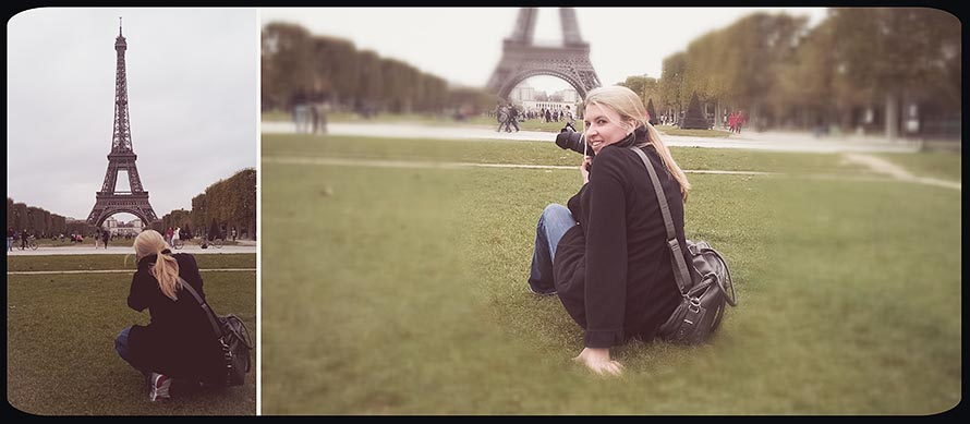 Ashley and the Eiffel Tower